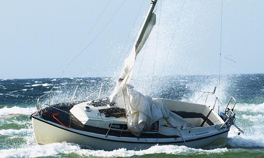 Den strandede båd, der skulle være en Junker 22. Foto: Erik Venøbo