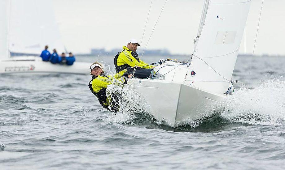 Claus Høj Jensen og gaster vandt DM igen i 2016. Her i Køge Bugt. Foto: Mogens Hansen