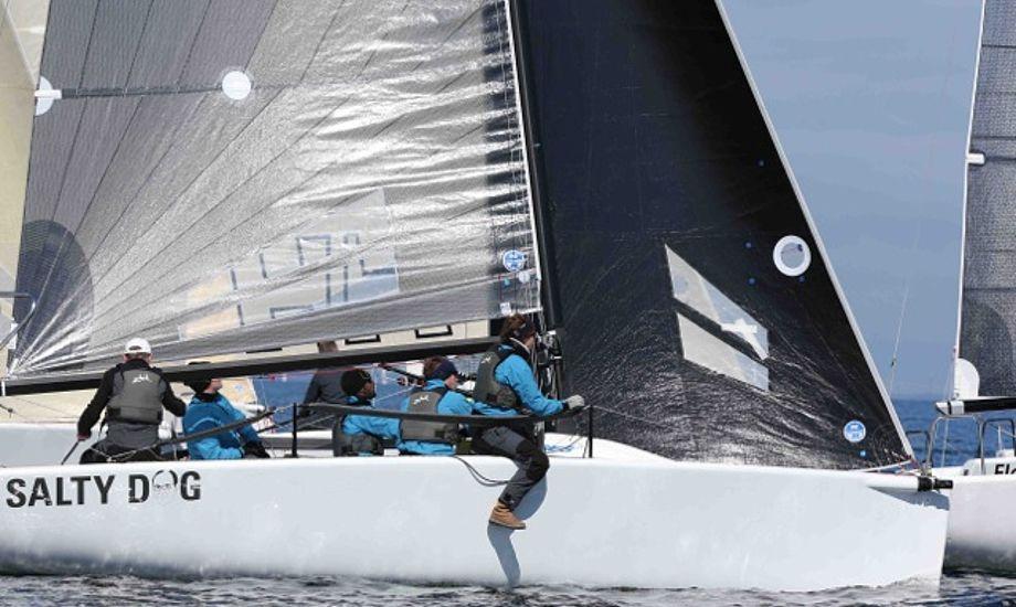 Peter Warrer og besætning vandt akkurat i Melges 24eren Salty Dog. Foto: Per Heegaard/Hellerup Sejlklub