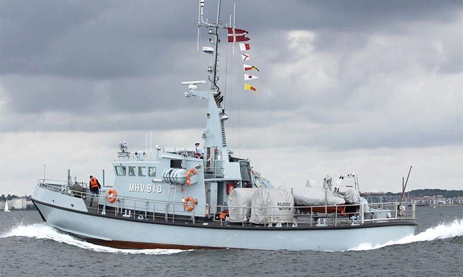Marinehjemmeværnsskibet Ringen fik den tyske sejler og hans båd sikkert i havn. Foto: Ninna Falck/ hjv.dk