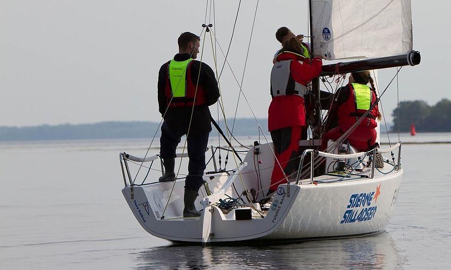J/70eren er populær i Thurø Sejlklub. Foto: Nikolai Barnekow Jensen.