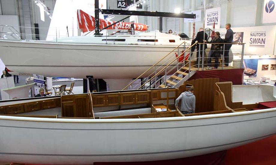 I forgrunden ses en halvmodel af Faurby 39 i baggrunden er Faurby 39 Jesper Bank Edition, der sælges med rabat. Foto: Troels Lykke