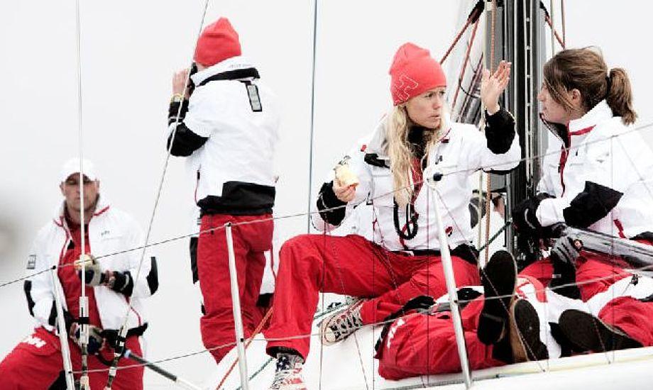 Kvindelig Farr 40-besætning møder op igen og vist uden en mandlig rorsmand denne gang. Foto: Big Boat Challenge