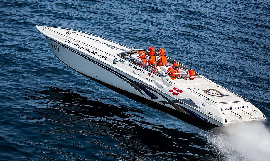 På vandet vil der være speedtest i fire forskellige klasser. Foto: KDY