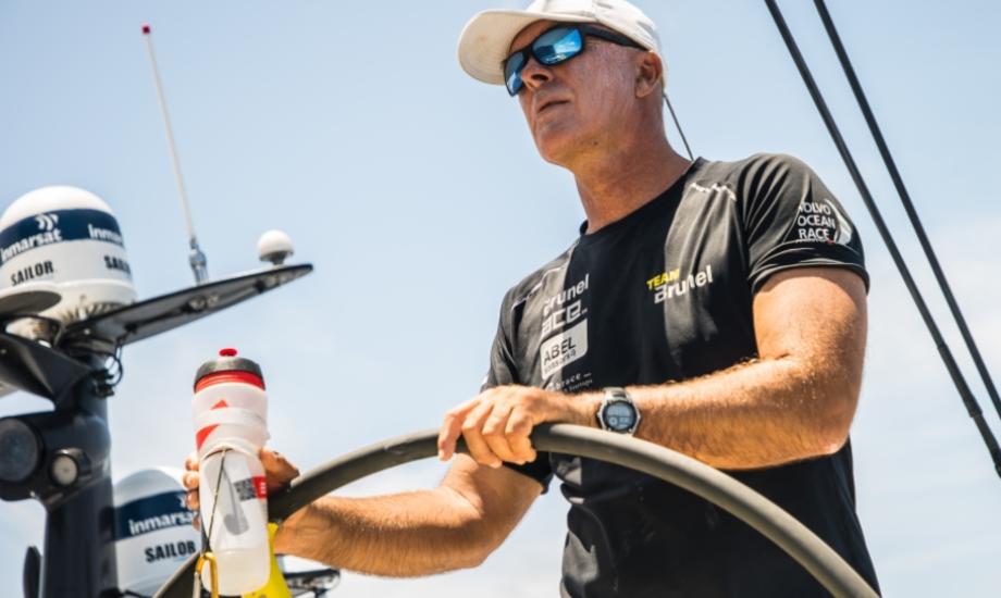 Bouwe Bekking er skipper ombord på Team Brunel. Foto: Rich Edwards/Volvo Ocean Race.