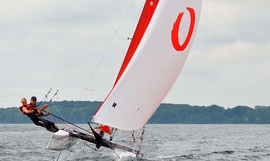 Oure rykker med på bølgen med flerskrog, som fylder mere og mere i sejlsport, bl.a. på grund af America's Cup. Foto: Louise Balslev