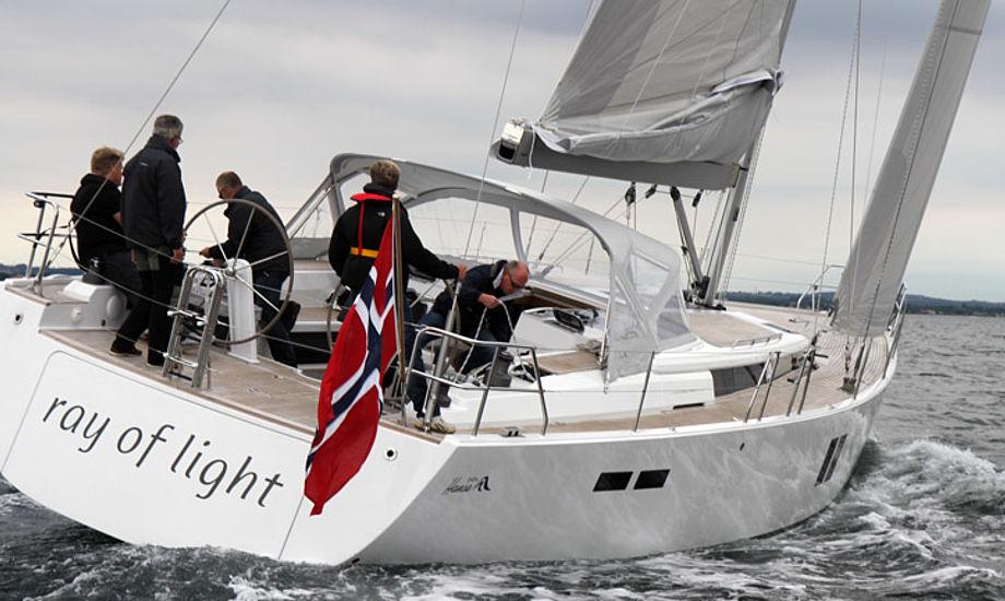 Ny Hanse 545 til 2,6 mio. kroner testes på Århusbugten. Foto: Troels Lykke