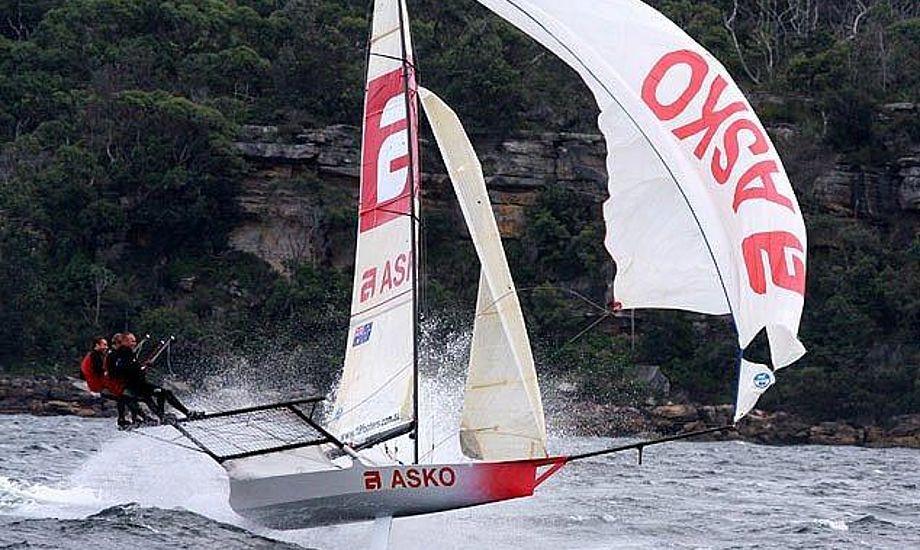 18-footer klassen tilbyder sponsorplads på Eurosport. Foto: 18footer.org