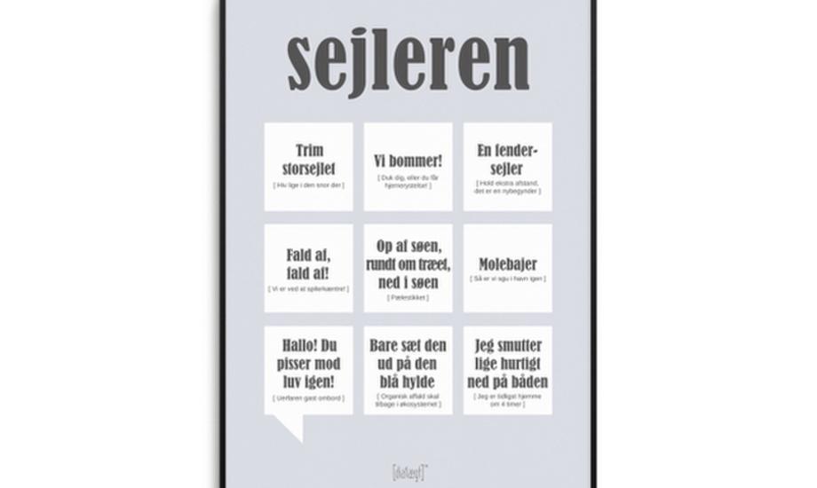 Det er disse sejlerudtryk, der ses på plakaten fra Aarhus-firmaet Dialægt. Grafik: Dialægt
