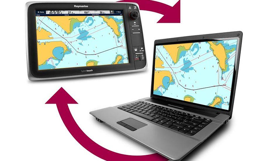 På Voyager XChange's website kan du lagre dine waypoints og ruter, samt dele det med dine venner på Facebook. Foto: Raymarine