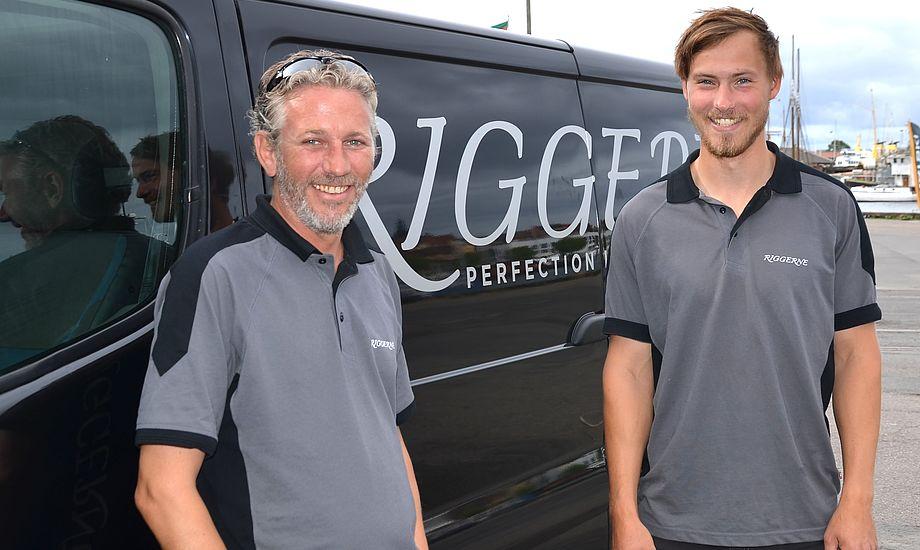 Frank Kirkegaard med sin medarbejder Nicolaj Bjørnholt. PR-foto