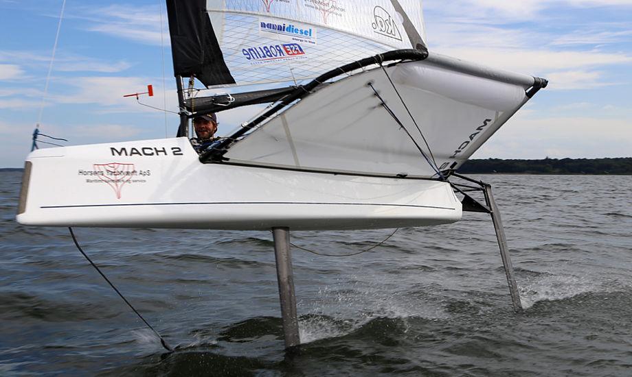 Søren Buhl har styr på sin Int. Moth til 150.000 kr. Foto: Troels Lykke