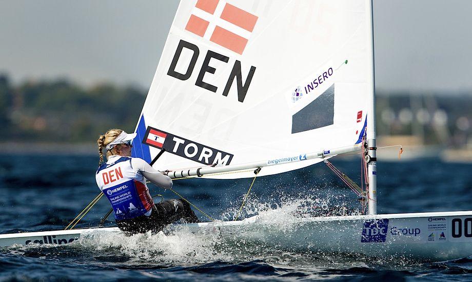Anne-Marie Rindom ligger helt i front inden finalesejladserne. Foto: Sailing Energy