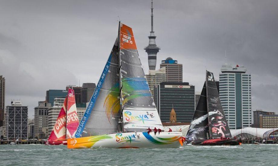 Sanya fik en god start så det ud til i Auckland. Foto: Volvo Ocean Race