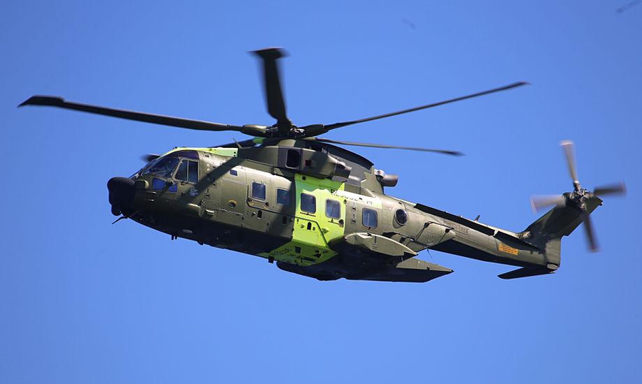 En redningshelikopter har i løbet af de sidste uger flere gange været på vingerne for at lede efter nødstedte. Arkivfoto: Troels Lykke