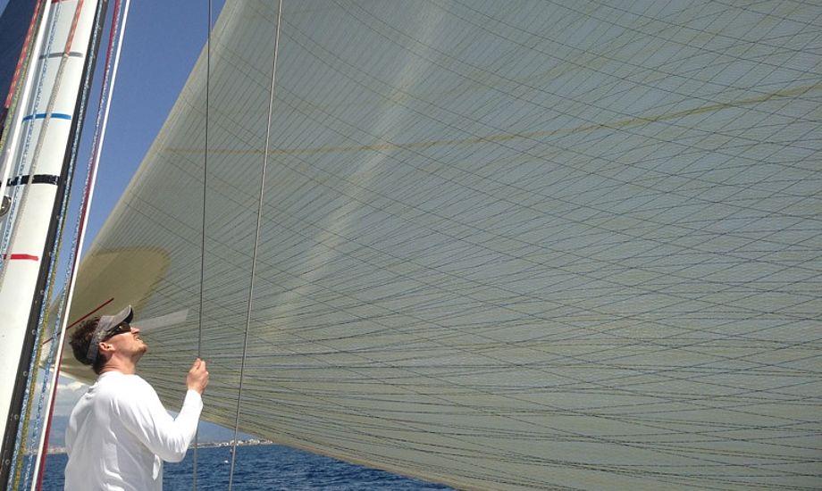 Martin Kirketerp ses her forleden på en Swan 45 på Mallorca. Samme båd skal han snart sejle med i Barcelona.