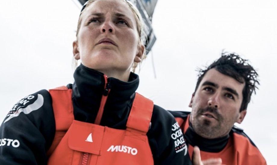 Jena Mai Hansen og resten af Vestas-teamet har sejlet langs den brasilianske kyst. Foto: Rich Edwards / Volvo Ocean Race