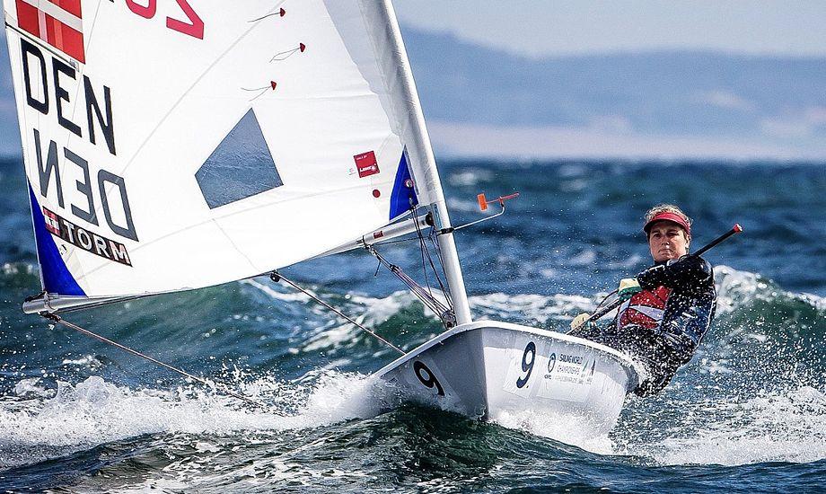 Anna Munch fra Kaløvig sejlede fornem sidste sejlads. Foto: Sailing Energy