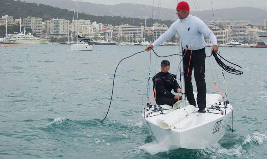 Hestbæk og Olesen ses her tidligere på Mallorca i deres nye P-Star. Foto: Troels Lykke