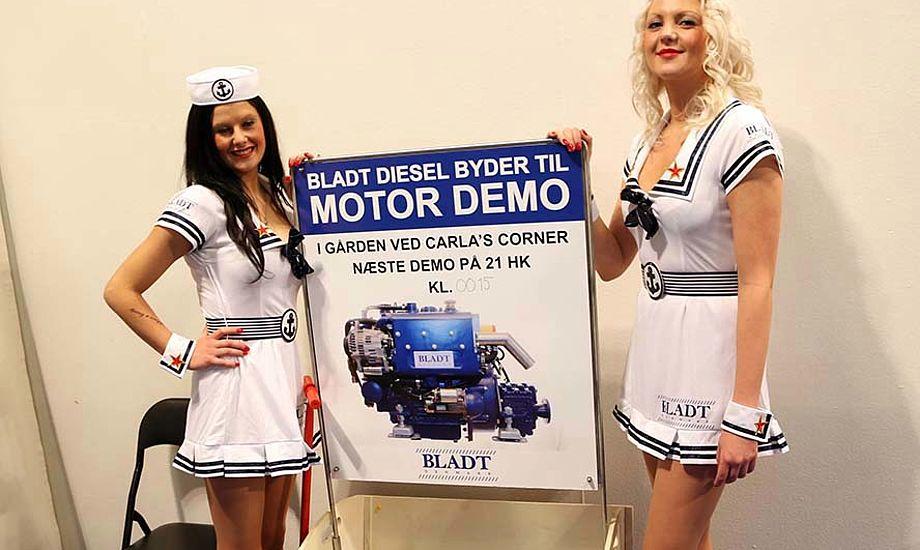 Bådmessens bedste blikfang, men gider man så også høre om en dieselmotors bundtræk? Foto: Troels Lykke