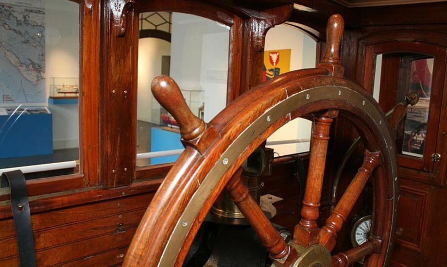 Roret på damperen Habicht på Flensborg Søfartsmuseum: Foto: Flensburger Schifffahrtsmuseum