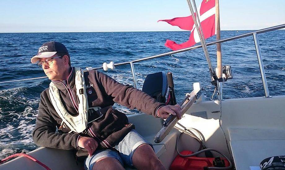 47-årige Henrik Ladegaard købte for kun ét år siden sin første båd, en Maxi 68. Foto: Privatfoto