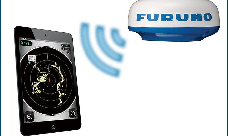 WiFi-modulet sender trådløst til din iPhone/Ipad, hvorfra du styrer informationerne. Foto: FURUNO