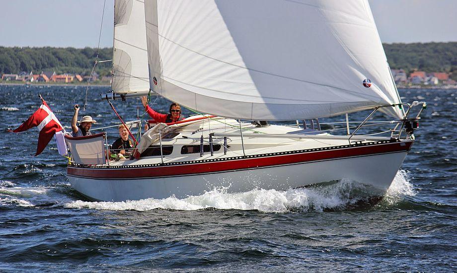 Båden er livlig på roret, men stadig godmodig med en kølprocent på 47. Foto: Søren Bo Christiansen
