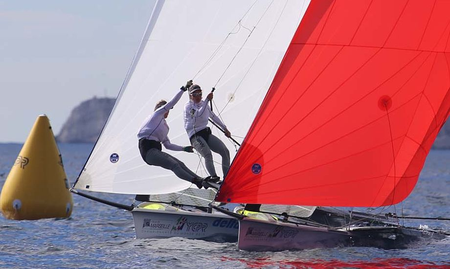 Ida Marie og Marie Thusgaard Olsen var noget skuffet over deres 7. plads. - Det er da træls ikke at få medalje, siger Ida Marie Baad. Foto: Troels Lykke