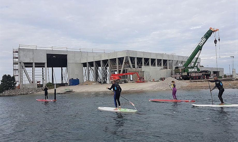 Sådan så sejlsportscenteret ud for to uger siden. Foto: Troels Lykke
