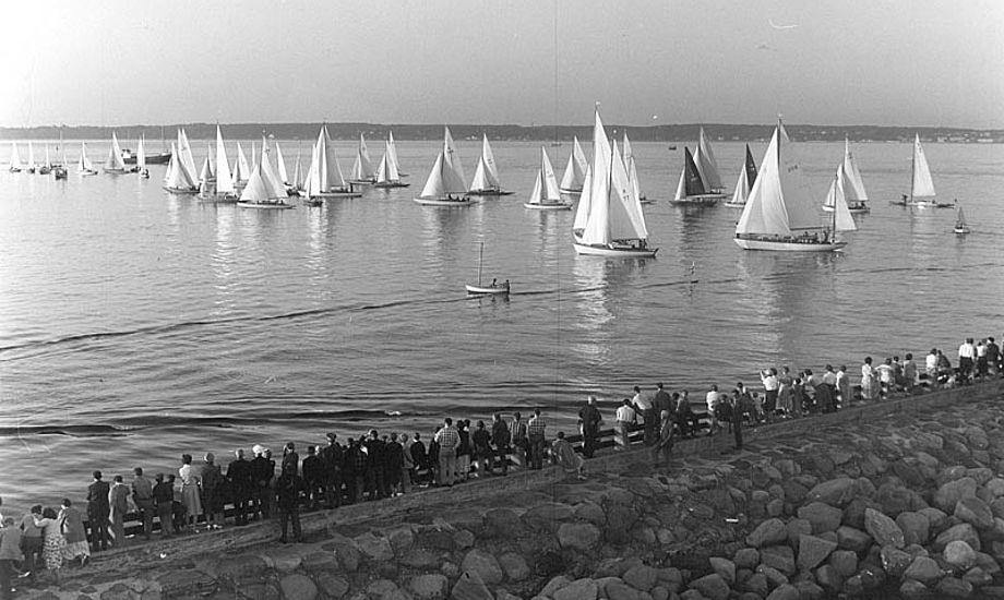 Sjælland Rundt anno 1957, 10 år efter det startede. Foto: ?