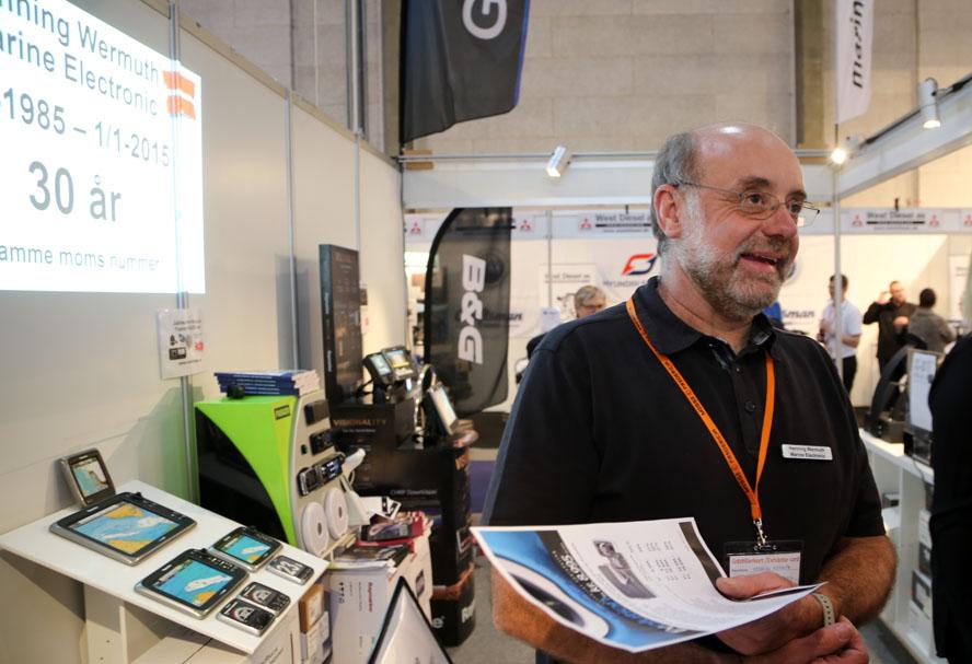 Henning Wermuth fra Aarhus var også på udstilling med sit firma. Foto: Troels Lykke