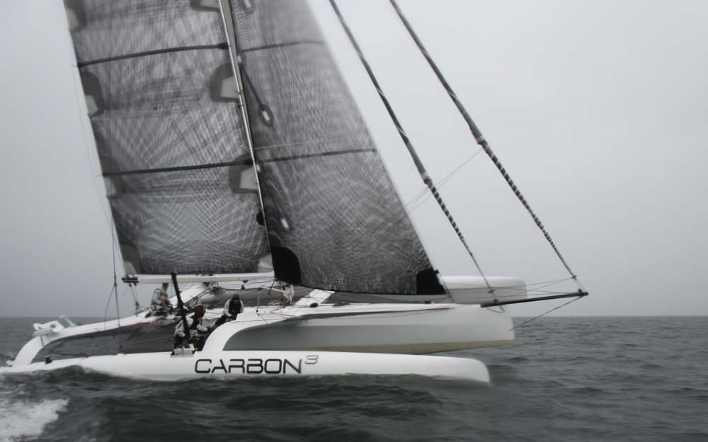 Carbon3 starter i Kerteminde med bl.a. rorsmand Eric Quouning, Jonas Pedersen, Søren Gitz og Jacob Groth. Foto: Troels Lykke