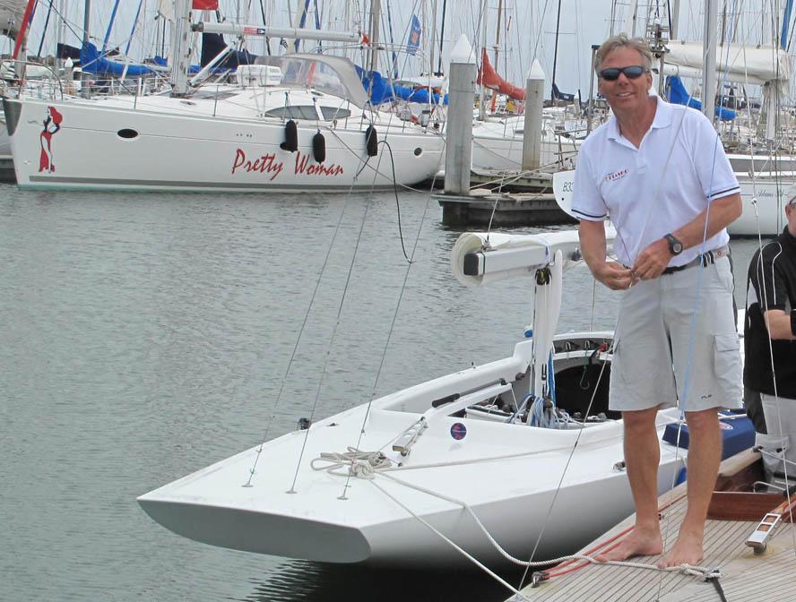 Jochen Schumann er mest vild med TP52-sejlads fortalte han til minbaad.dk. En time efter blev holdet disket fordi han ikke sejlede med svømmevest. Foto: Troels Lykke