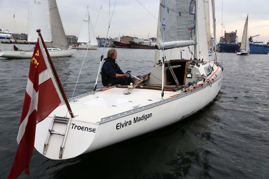 Flemming Fjord ses her lige efter starten i Sølvroret, hvor han endnu var frisk. Foto: Troels Lykke