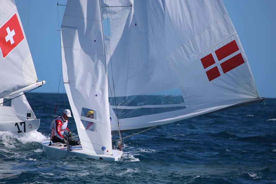 Se video fra første dag. Danskerne mangler fart på læns. Foto: Troels Lykke