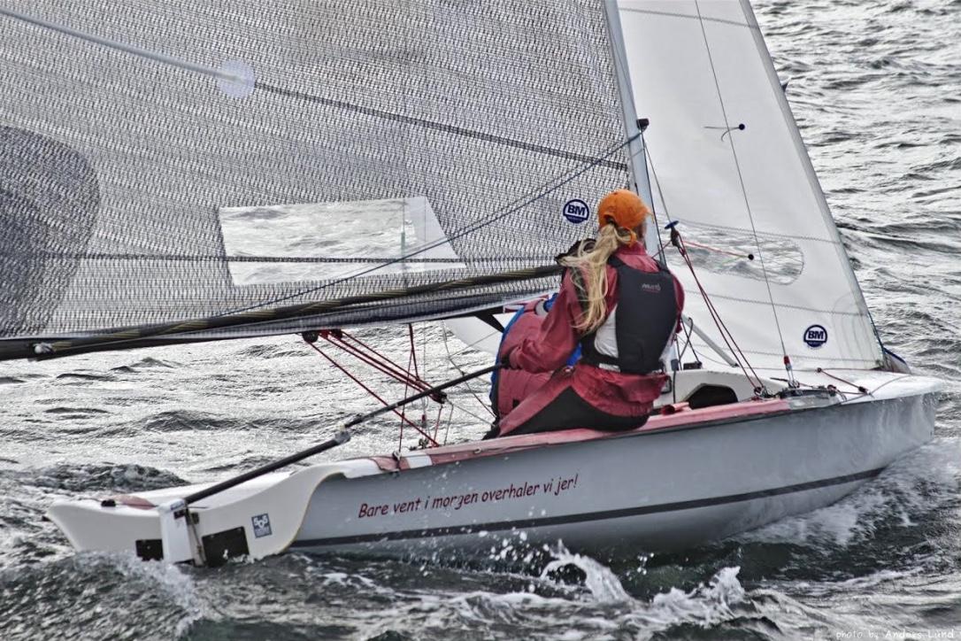 Interesserede sejlere - både nye og erfarne - kan låne en 505-jolle. Foto: Anders Lund
