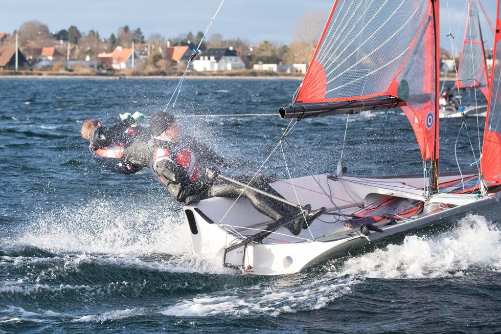 Det er første år Frederik Bruun og Mads Fuglbjerg sejler sammen som makkere i 29'eren. Foto: Peter Brøgger.