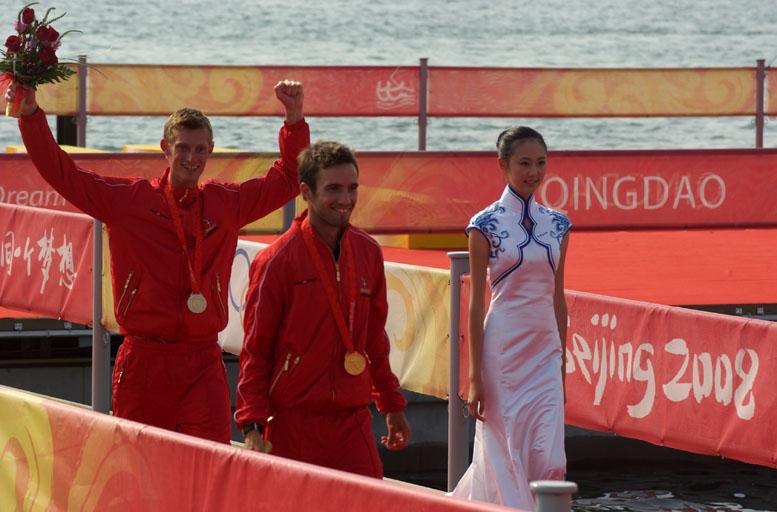 Jonas Warrer og Martin Kirketerp sejlede OL-guld hjem i Qingdao. Foto: Troels Lykke
