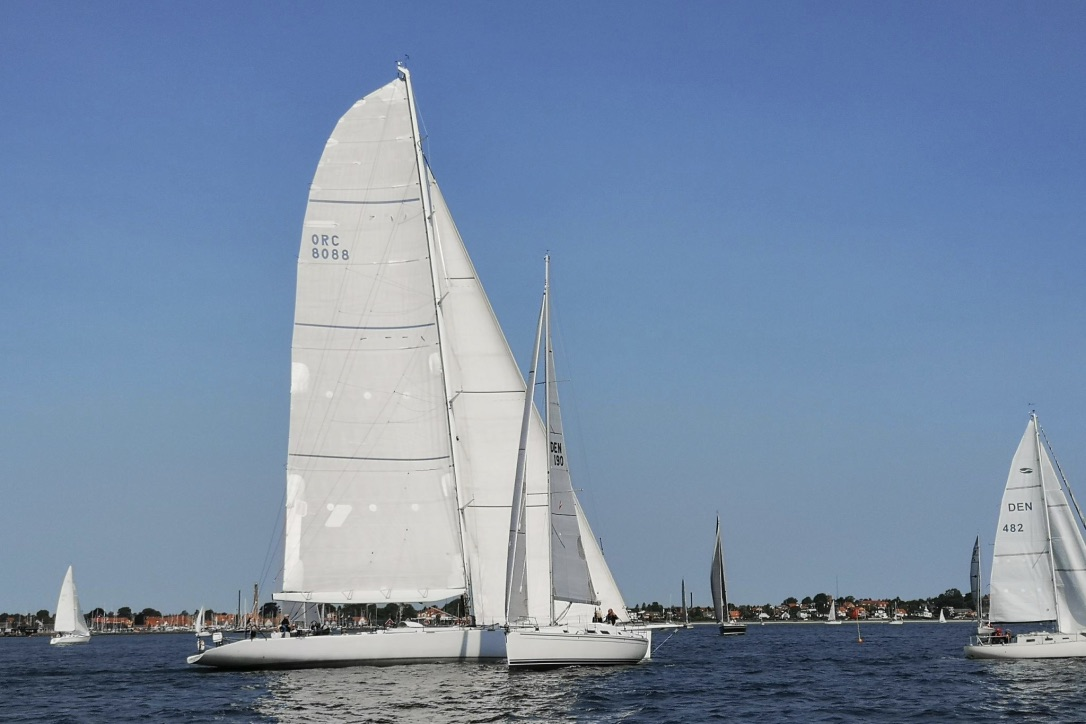 Den tyske båd har nu sat kursen rundt om Fyn. Foto: Troels Lykke