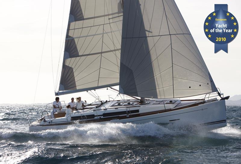 Du kan se Dufour 405 i nyeste 2012 udgave på bådudstillingen i Egå. Foto: Floor Marine