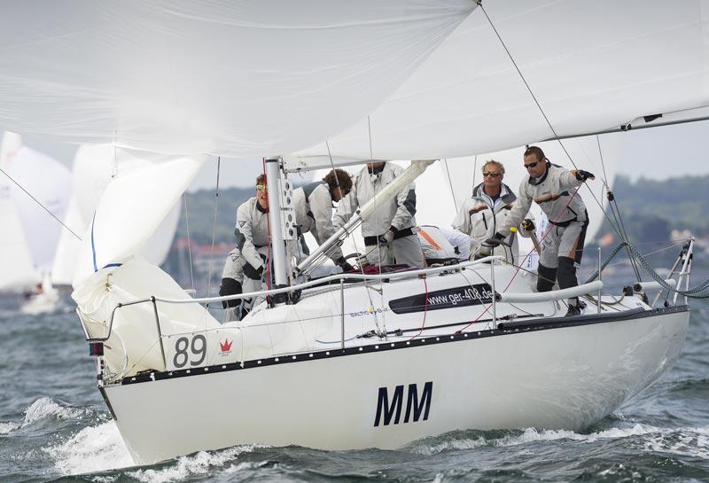 De storvindende tyske besætning med Christian Soyka ved roret og Peter Bolvig om bord under Gold Cup i Tuborg 2013. Foto: Mick Anderson/Sailingpix/X-yachts