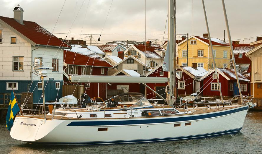 Hallberg Rassy 64 i Orust nord for Gøteborg.