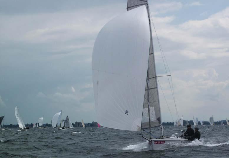 CB66er sejlede op mod 15 knob i går i kielerugen. Foto: Troels Lykke