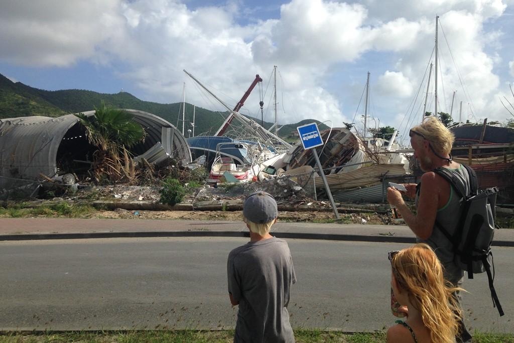 Familien Rosentoft vendte tilbage til et ødelagt St. Martin. Foto: Cille Rosentoft.