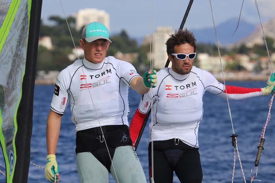 Peter Lang, tv., og Jonas Warrer manglede fart ved VM i Marseille, nu går det bedre. Foto: Troels Lykke