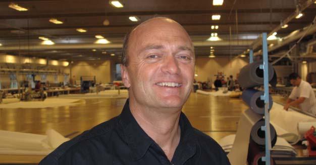 Jesper Bank på hjemmebane forleden hos Elvstrøm Sails, hvor han er salgschef og medejer. Foto: Troels Lykke