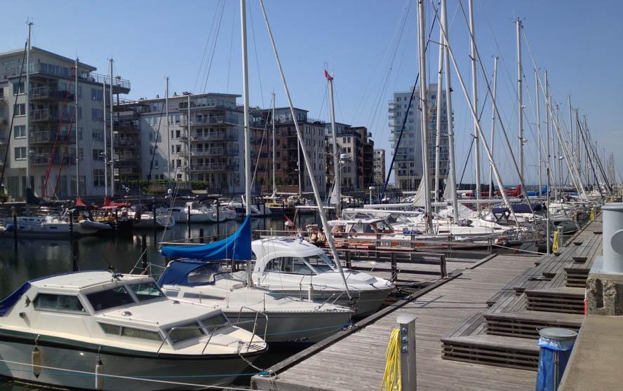 Lige nu er der mange danskere, der sejler til Malmøs havn Dockan. Foto: Lennart lé Fevre