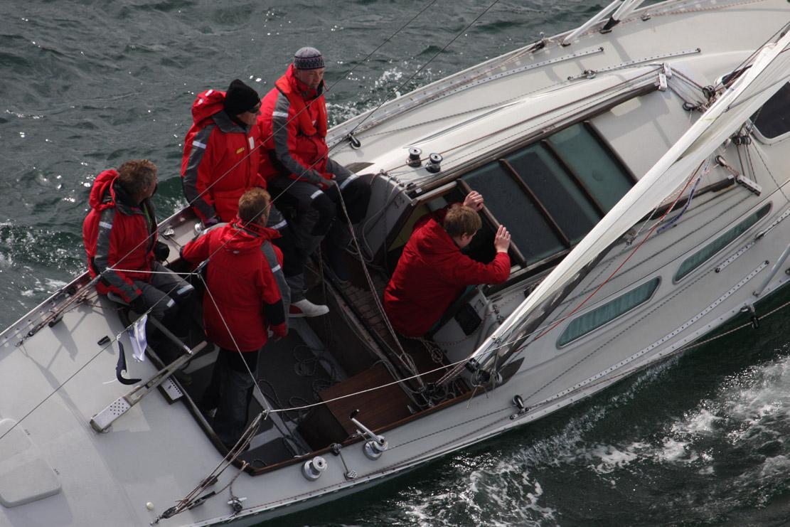 Sejlere på vej i Palby Fyn Cup. Foto: Troels Lykke
