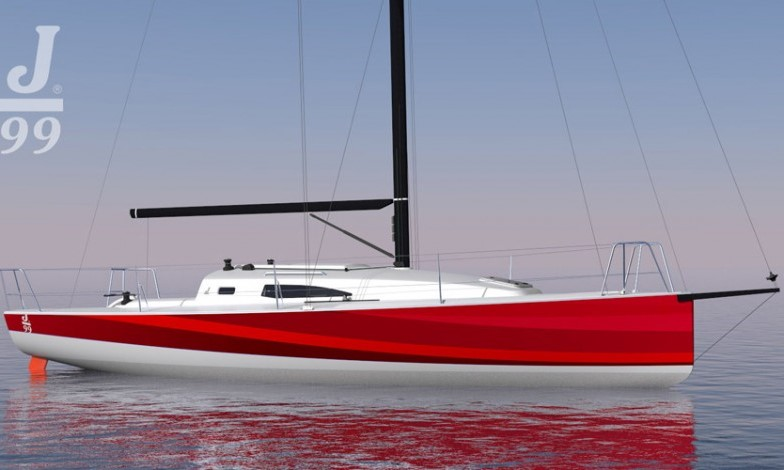 Sådan kommer den nye J/99er til at se ud. PR-tegning J/Boats